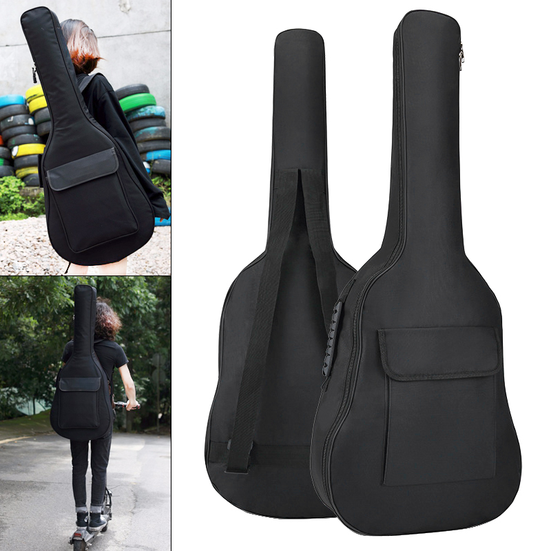 36 Inch Guitar Bag Case Gig Bag Double Straps Oxford Fabric Pad 5mm Cotton Thickening Soft Cover Waterproof Backpack