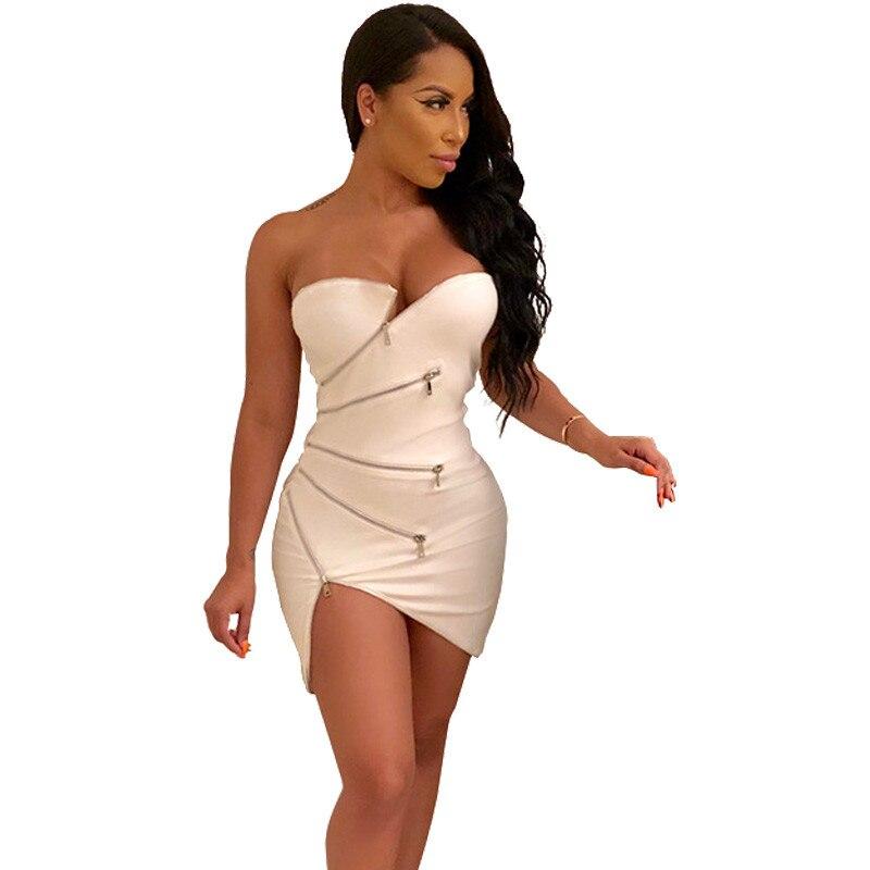 Sexy White Bandage Bodycon Dress Women