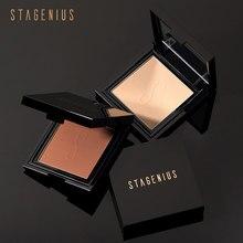 STAGENIUS Mineral base en polvo compacto corrector de polvo compacto de aceite de control Maquillaje facial polvo de ajuste nuevo