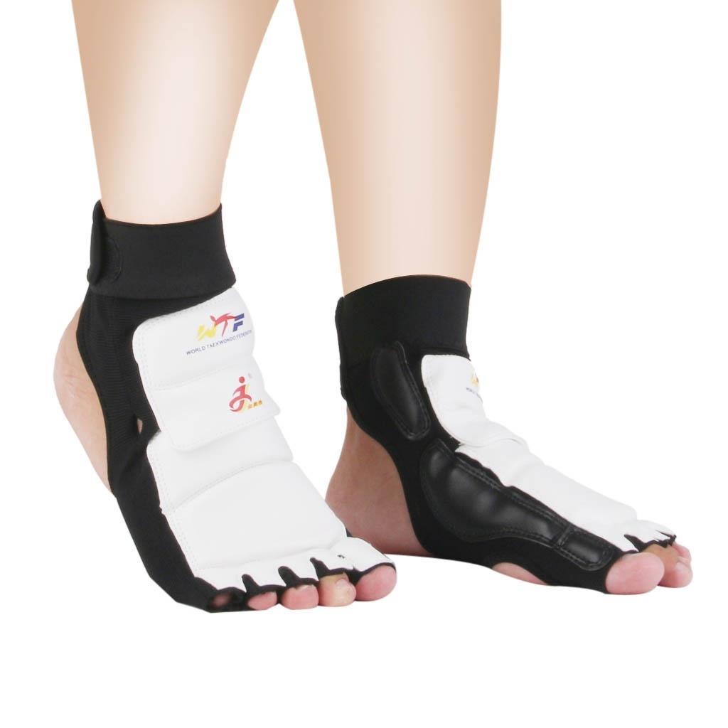 Par de Couro do Plutônio Taekwondo Karate Protetor Almofadas Sparring Engrenagem Mma pé