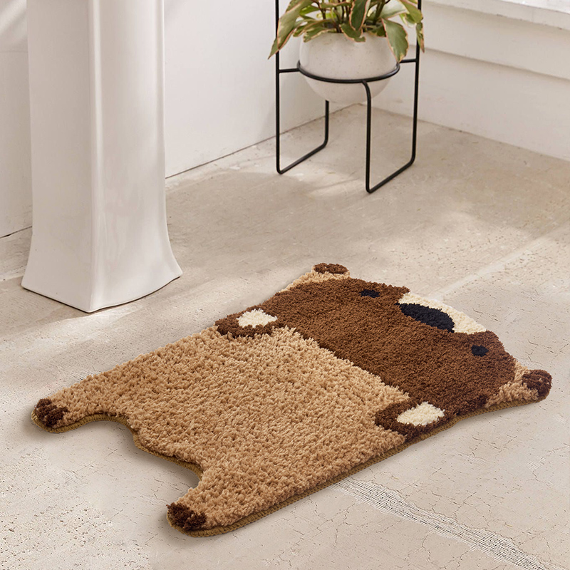 Bear Area Rugs Bathroom Rug Cute Entrance Carpet Kitchen Rug Badroom Floor Mats Nordic Welcome Doormat Kids Room Decor 65x48cm