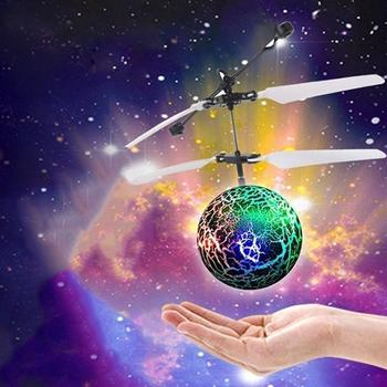 Led Glowing Flying Ball Kids Mini IR Sensing RC Helicopter Aircraft Flying Ball Toys Built-in LED Light With Remote Control