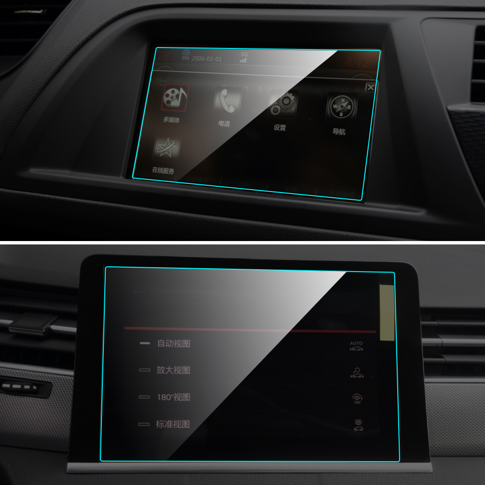 For Citroen C5 2013-2017 HD Clear Media Touch Screen Protector Car GPS Navigation Tempered Glass Film Auto Interior Accessories
