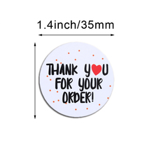100pcs/pack 35MM Sticker Thank You Stickers Thank You for Supporting My Small Business Thank You Stickers Seal Labels
