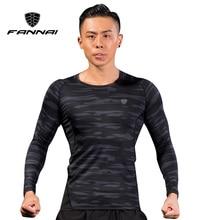 FANNAI Long Sleeve Mens Sport Running Shirt Quick Dry Basketball Soccer Training T Men Gym Clothing Sportswear Rashgard