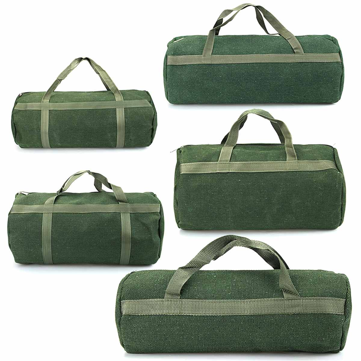Canvas Zipper Tool Bag Portable Mechanics Tool Storage Bag With Handle Wrenches Screwdrivers Hand Tool Electrician Shoulder Bag