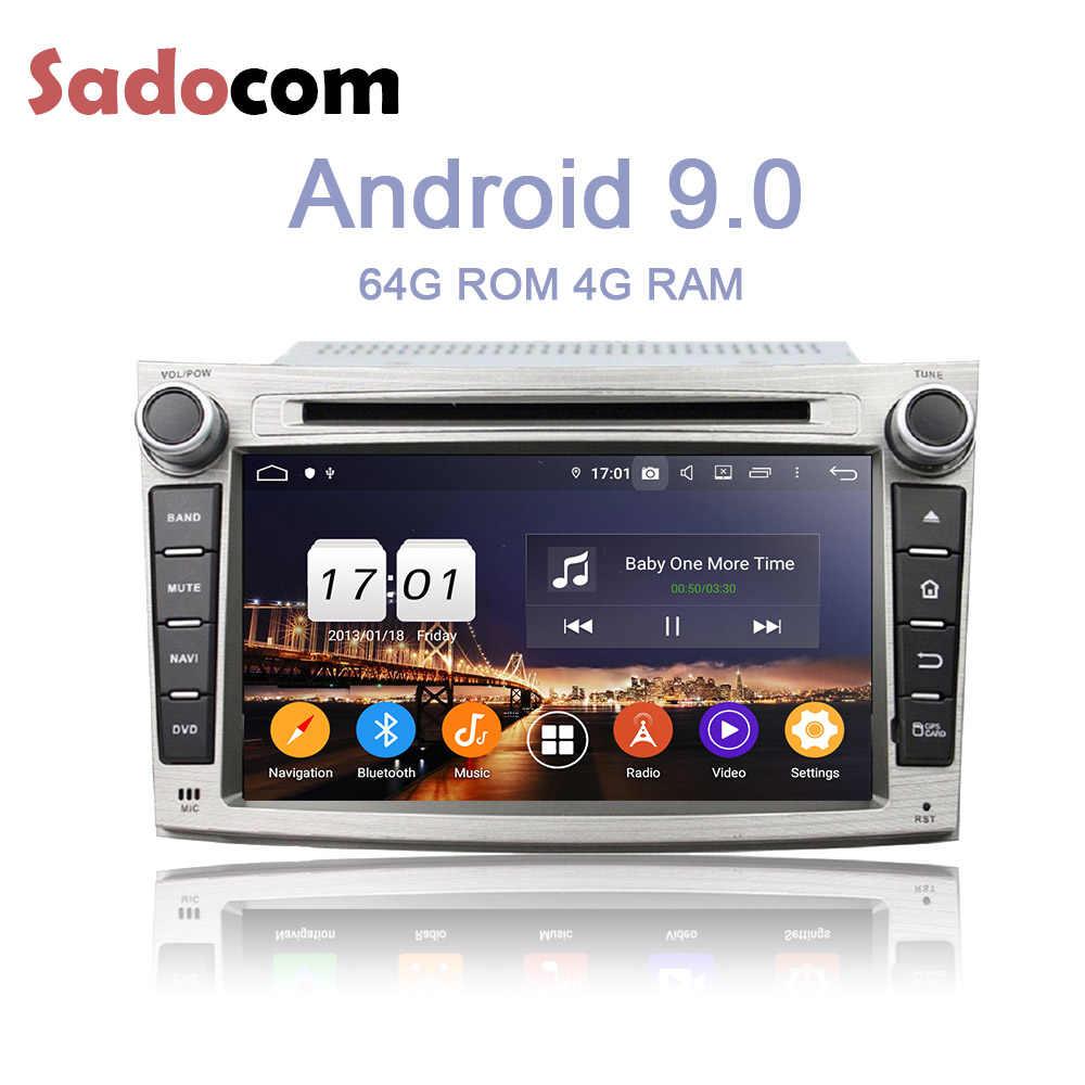 DSP IPS 2 din アンドロイド 9.0 4 ギガバイトの RAM 8 Dvd プレーヤースバルレガシィアウトバックフォレスターインプレッサ用 2009 2010 2011 2012 autoradio Bluetooth 4.2