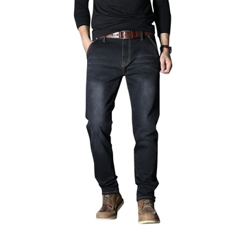 Cloudstyle New Men's Stretch Loose fit Jeans Men's Denim Pants Brand Casual Style Trousers For Youth Spring Big Size 48 фото