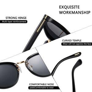 Image 5 - Мужские солнцезащ. Очки в круглой оправе AOFLY, черно золотистые солнцезащитные очки в круглой оправе с поляризованными линзами, пригодными для вождения, лето 2019