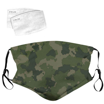 Unisex Outdoor Face Camouflage print mask Washable Breathable Reusable 1PC cotton Mask With 2PC Filter masks reusable26
