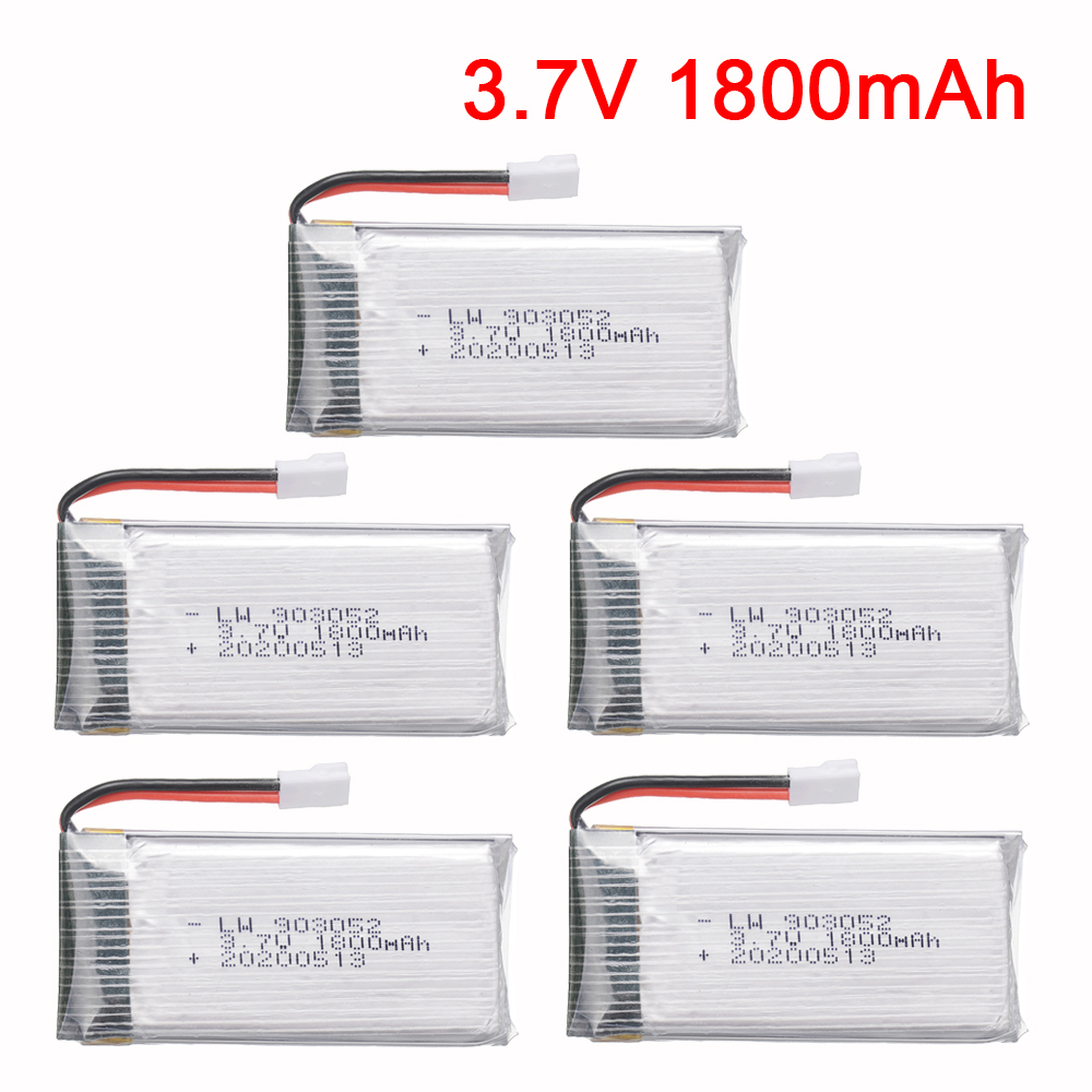 5/10pcs 3.7v 1800mAh Li-po Bateria para KY601S X5 X5S X5C X5SC X5SH X5SW m18 H5P H11D H11C T64 T04 T05 F28 F29 T56 T57