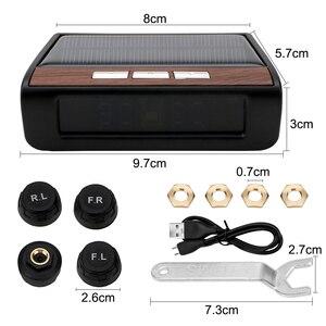 Image 5 - Smart Auto TPMS Reifen Druck Überwachung System Solar Power Digital LCD Display Auto Sicherheit Alarm Systeme Reifen Druck