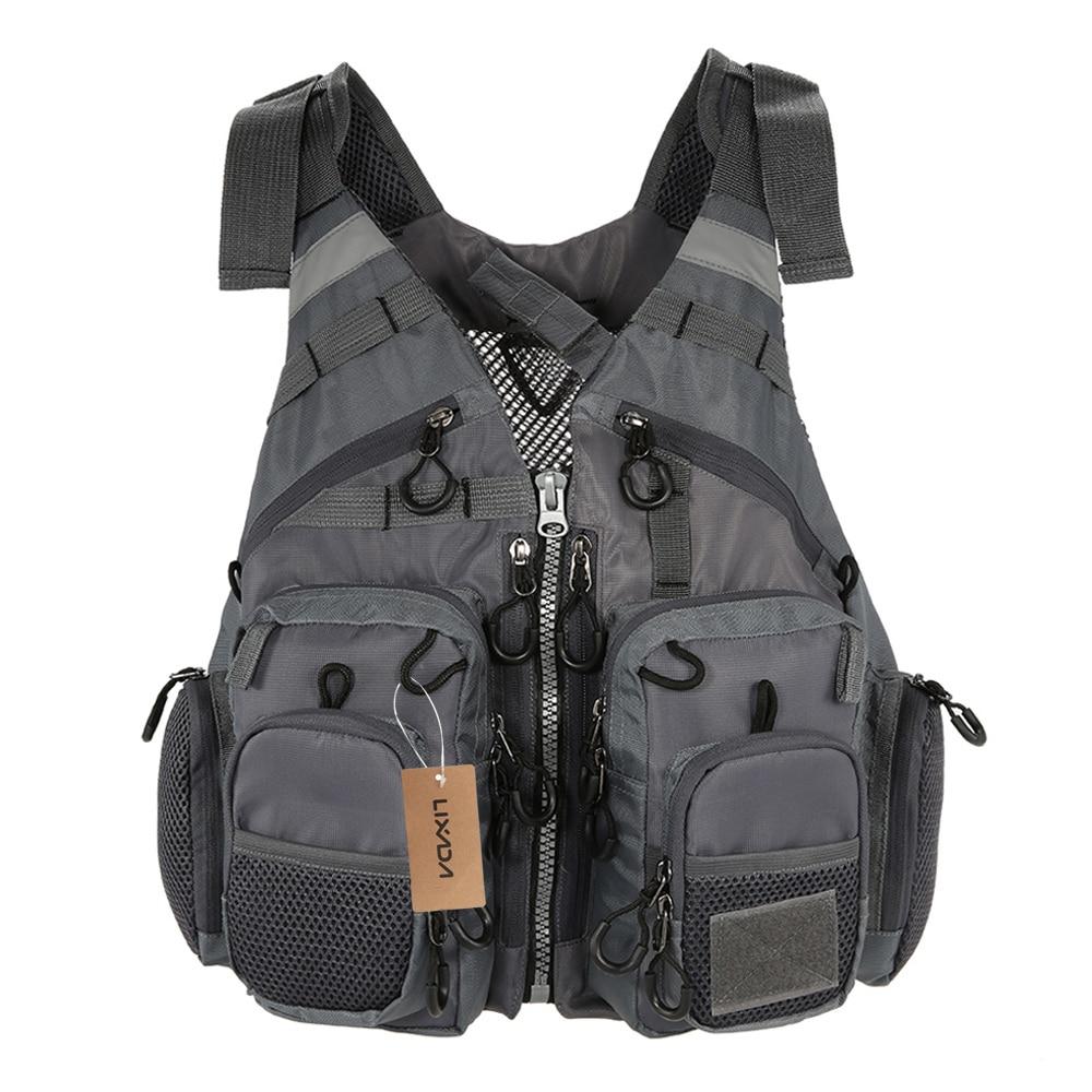 Outdoor Breathable Fishing Life Vest Superior Bearing Life Safety Jacket Swimming Floatation Waistcoat Vest