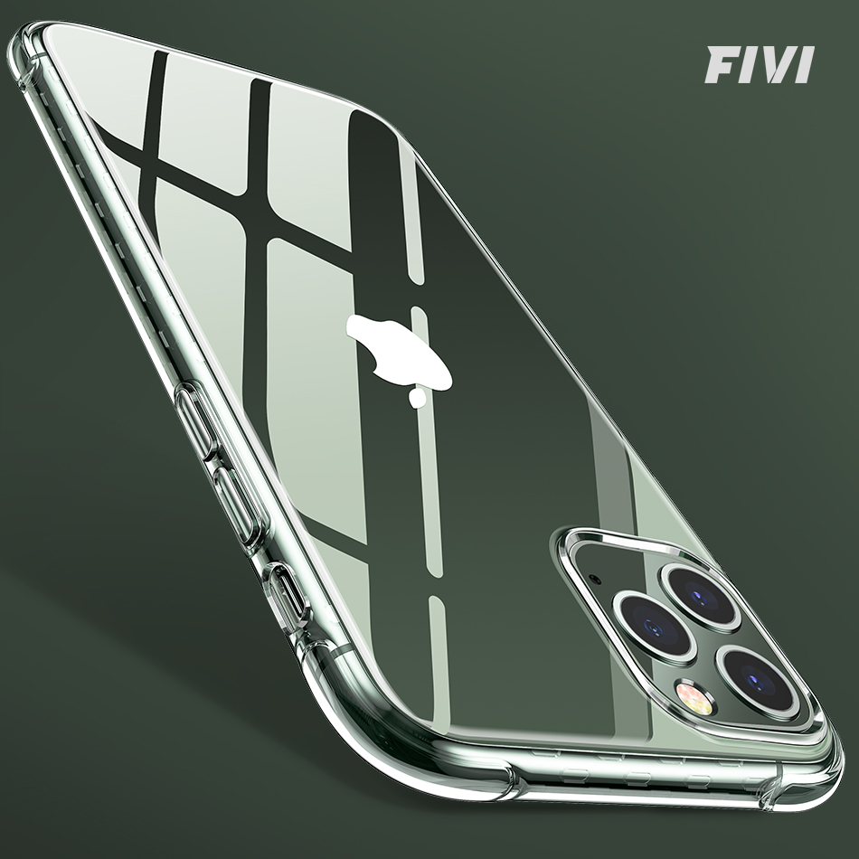 Capa de telefone ultra fina para iphone 11 caso tpu capa de telefone para iphone 7 8 x xs max 11 pro 11 pro max silicone transparente