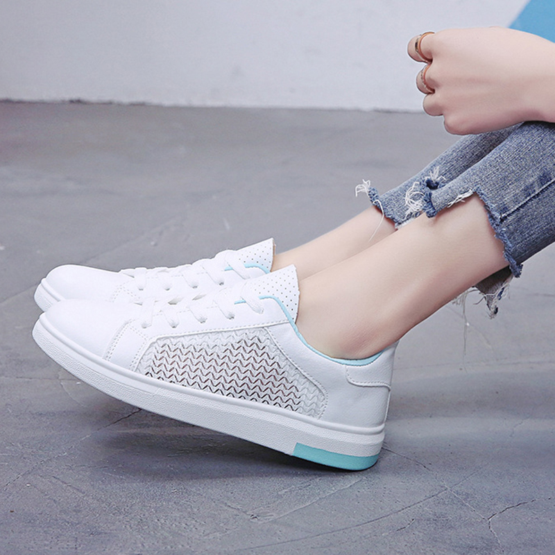 Sneakers Women Breathable Mesh Summer Autumn Women Causal Shoes Fashion White Leather Flat Walking Female Vulcanize Shoes VT1247 (27)