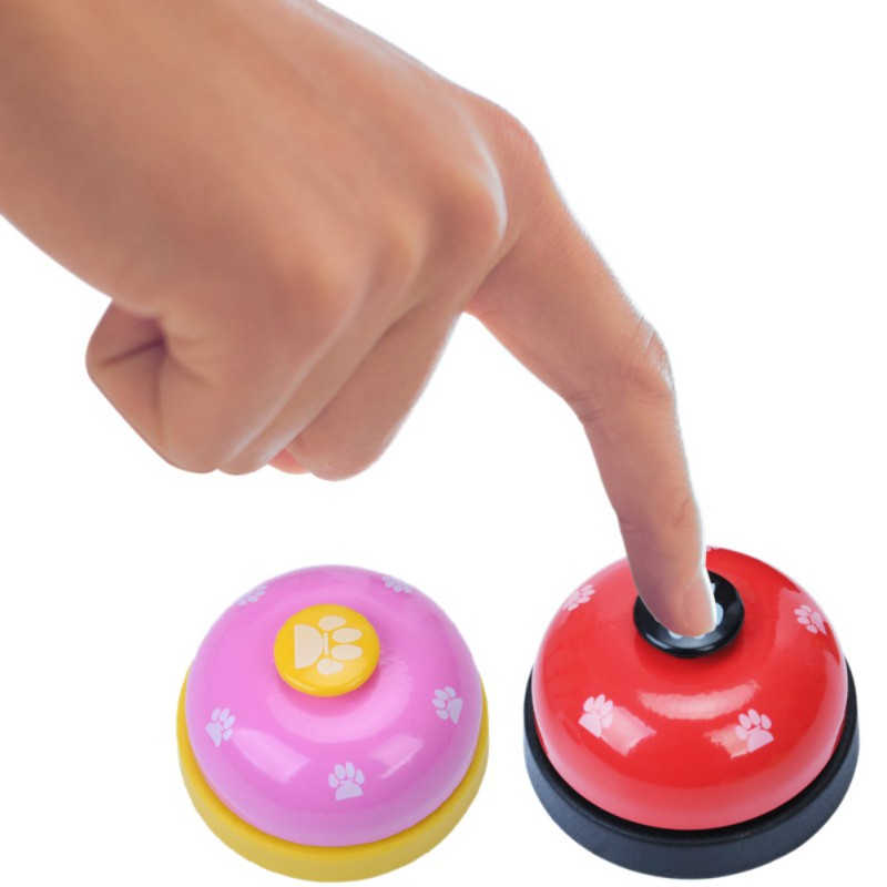 Pet Toy Training Called Dinner Small Bell Footprint Ring Dog Toys For Teddy Puppy Pet Call-3