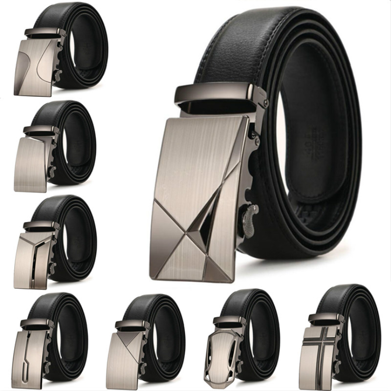 New Hot Selling Men Belt Fashion Pu Alloy Automatic Buckle Belt Business Affairs Casual Decoration Belt Men's Belts Luxury Brand