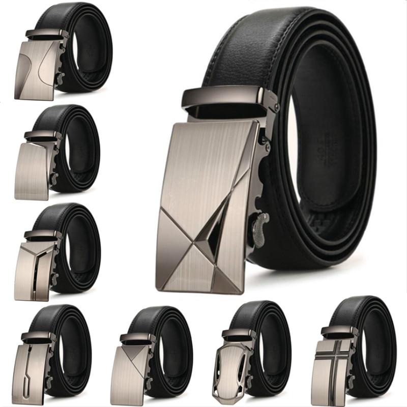 New Hot Selling Men Belt Fashion Pu Alloy Automatic Buckle Belt Business Affairs Casual Decoration Belt Men's Belts Luxury Brand