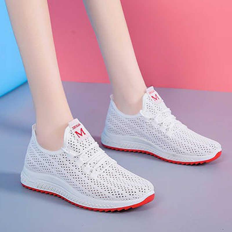 여성 운동화에 여성 슬립에 대 한 여름 실행 신발을 Vulcanized 메쉬 통기성 스포츠 신발 여성 운동 신발