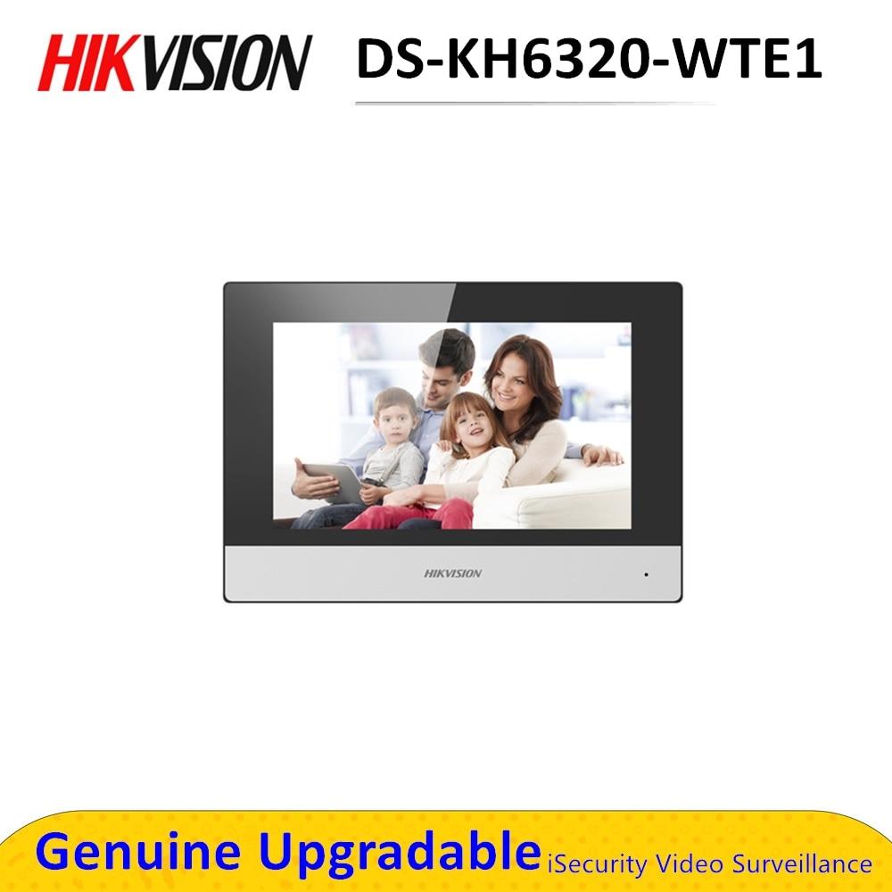 D'origine DS-KH6320-WTE1 7 pouces wifi Moniteur D'intérieur POE, interphone Vidéo sans fil Intégré haut-parleur et micro