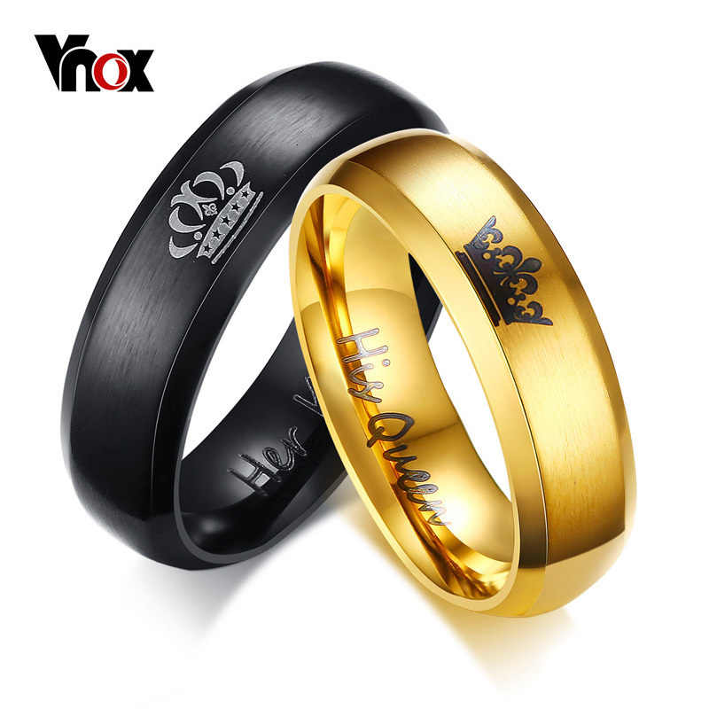 Vnox Drop Shipping Engagement Ring Unique Gift For Lover His