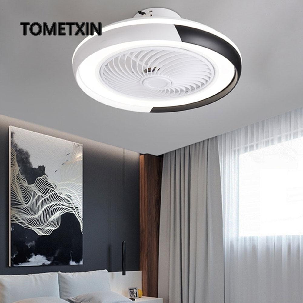 Brilliant Fashion App Smart Ceiling Fans With Lights Remote Control Fan Light Ventilator Lamp Air Cool Bedroom Decor Modern 50 Cm Pleasant In After-Taste