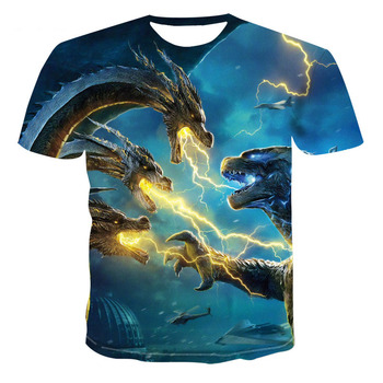 Dragon Graphic T-shirt Animal Theme Men's 3D Fashion Tops Summer Casual O-Neck Shirt Large Size Streetwear - discount item  38% OFF Tops & Tees