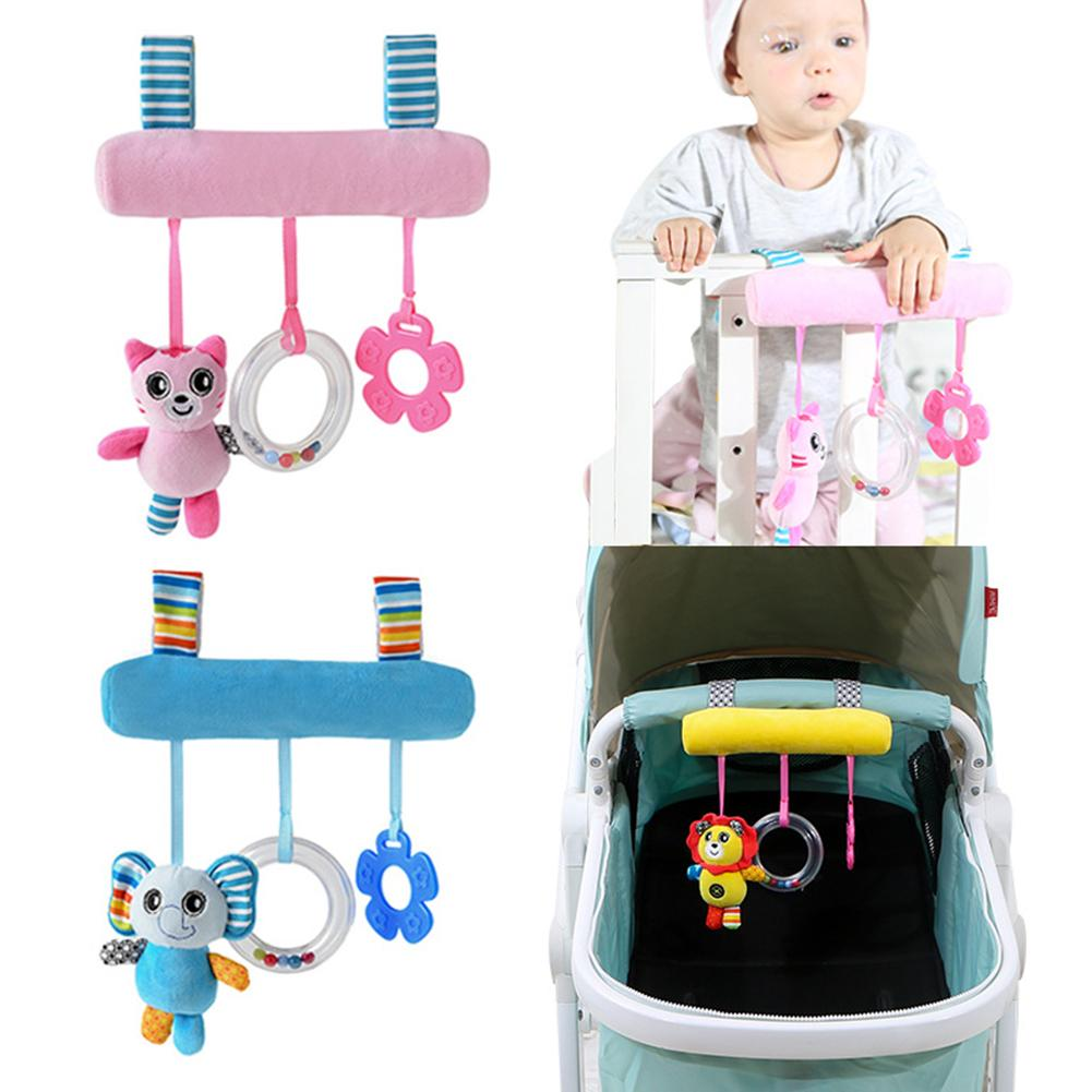 Pink And Blue Stroller Cartoon Animal Pendant Bell Hanging Rattle Crib Cradle Ornament New