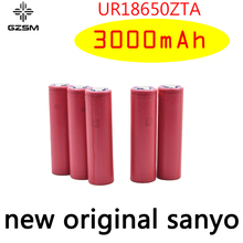 GZSM 18650 battery for Sanyo UR18650ZTA rechargeable 3000mAh 3.7V 6A For powerbank