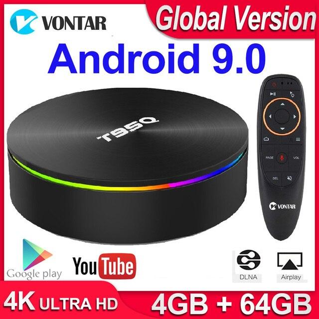 T95Q 4GB 64GB אנדרואיד 9.0 טלוויזיה תיבת 4K מדיה נגן DDR3 Amlogic S905X3 Quad Core 2.4G & 5GHz Dual Wifi BT4.0 100M H.265 חכם טלוויזיה תיבה