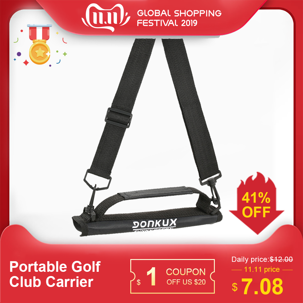 Portable Golf Club Carrier Lightweight Golf Club Bag Nylon Club Carrier Sleeves With Shoulder Strap Golf Bag Accessories