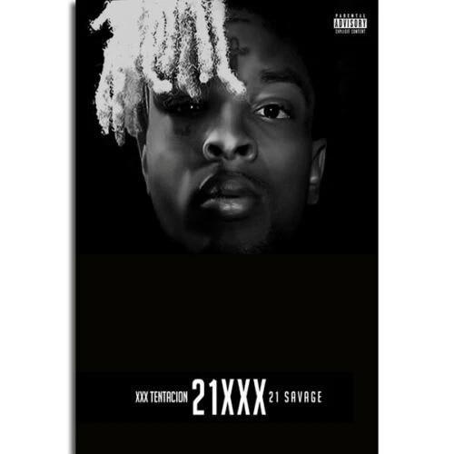 gx311 21xxx album cover 21 savage xxxtentation rap hip hop singer painting poster prints canvas wall picture for home room decor