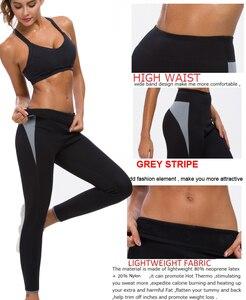 Image 4 - NINGMI Neoprene Sauna Suit Long Sleeve Shirt + Legging Body Shaper Sports Set Women Control Panties Pant Waist Trainer Shapewear