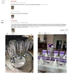 Image 5 - Новые s образные Хрустальные акриловые бусины, занавески, вращающиеся на дороге, свадебные реквизиты, колесо обозрения, Русалка, подсвечник, цветочный кронштейн, ваза