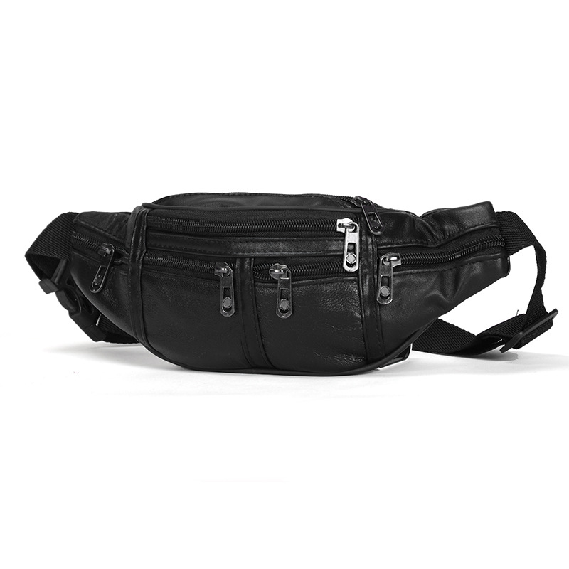 Genuine Leather Male Waist Pack Fanny Pack Men Leather Belt Waist Bags Phone Pouch Small Chest Messenger For Man
