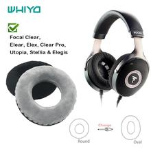 Whiyo DIY Soft Velvet Replacement EarPads for Focal Clear Elear Elex Clear Pro Utopia Stellia Elegis Cushion Cover Ear Pads