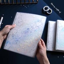 Creative Bronzing Starry Sky A5/B5 Coil Book Hard Shell Notebook School Office Supplies Plan Journal