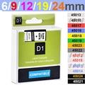 Совместимый с dymo D1 12 мм ленты 45010 45013 40910 40913 43613 43610 кассета лент для Dymo label manager LM 160 280 этикеток