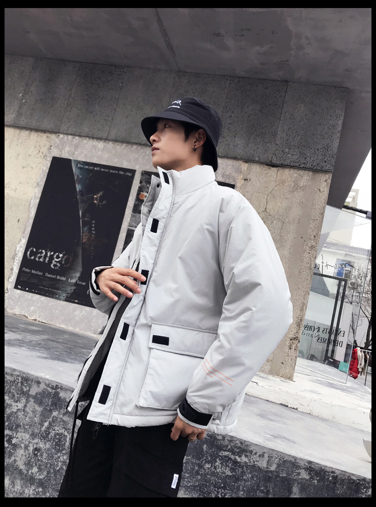 Men's Quality Student Winter Clothes Jacket Men Parka Thick Warm Outwear Korean Youth Streetwear Hip Hop Japan Style Harajuku 25