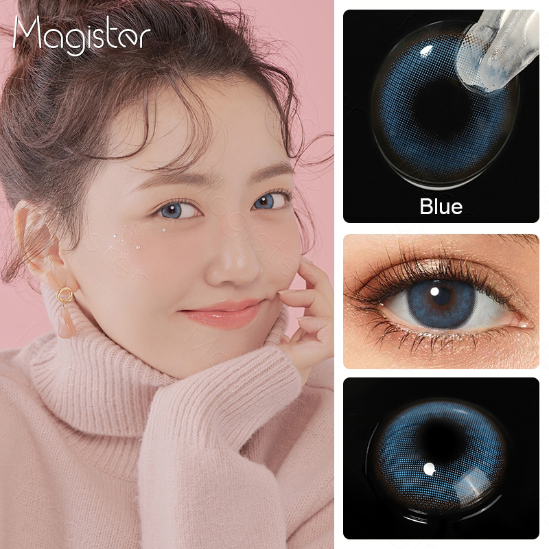 2pcs/Pair Contact Lenses Colored Contact Lenses for Eyes Colored Yearly Blue Brown Colorful Beauty Eye Contact Lenses Eye Color 3
