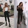 Office Lady Black Suit Pants with Belt Women High Waist Solid Long Trousers Fashion Pockets Pants Trousers Pantalones 4