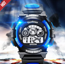Hot Sale Watch Waterproof Children Watch Boys Girls LED Digital Watch Sports Watches Clock Gift Silicone Casual kids Relogio *A(China)