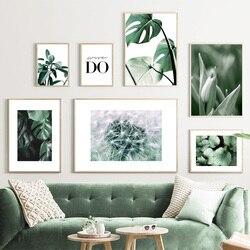 YLKWL Plante Verte Feuille Toile Mur Peinture Art Affiche Motivation Citations Imprimer D/écoration Image Home Decor,A3 30x42cm