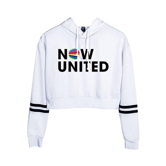 Now United Crop Top Hoodies Harajuku Japanese Anime Uzumaki Printed Hoodie Women Streetwear Fashion Cropped Sweatshirt Coat 2