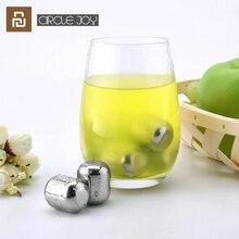 شاومي سيركل جوي آيس بلوك 304 قابل للغسل من الستانليس ستيل قابل لإعادة الاستخدام لعصير النبيذ والمشروبات المختلفة