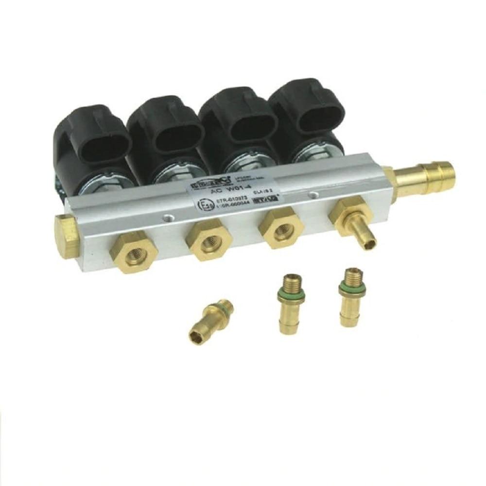 2 Ohms AC STAG 4CYL W01-4 Injectors Rail