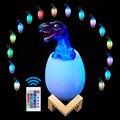 Динозавр яйцо 3D ночник перезаряжаемая управляемая лампа 16 видов цветов сменная дистанционная Светодиодная лампа подарок креативная умная ...