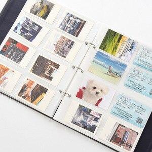 Image 3 - 400 כיסים 3 אינץ מיני אלבום תמונות פולארויד Fujifilm תמונה נייר גלרית פוג י Instax מיני 9 8 70 7s 50s 90 שם כרטיס מחזיק
