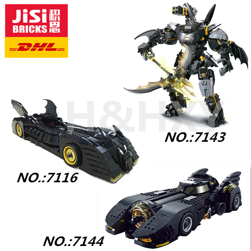 DHL IN STOCK DECOOL 7116 7143 7144 Super Hero Batman The Ultimate Batmobile Model Building Blocks Bricks MOC-15506 7784 70901
