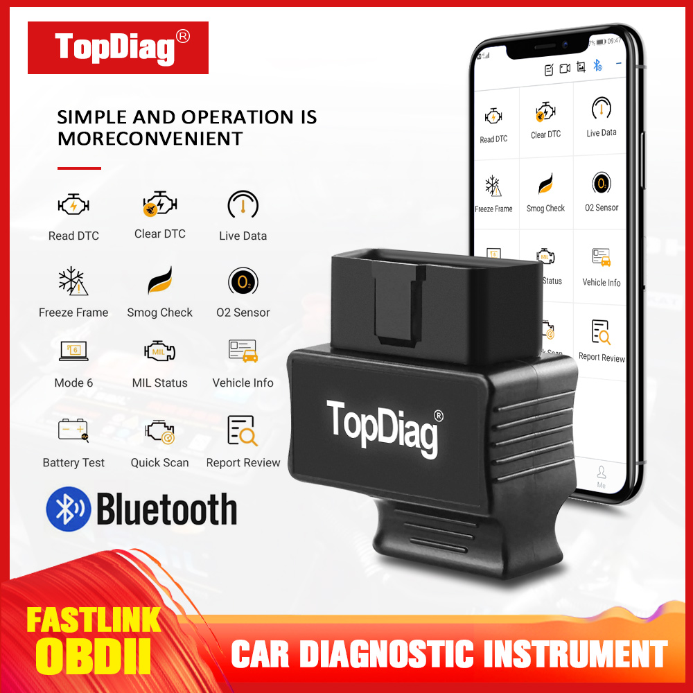 TopDiag Faslink M2 OBD2 Scanner <font><b>Car</b></font> Fault Diagnostic <font><b>Tool</b></font> Wireless Bluetooth Connection <font><b>Car</b></font> Fault Code Reader For Android IOS image